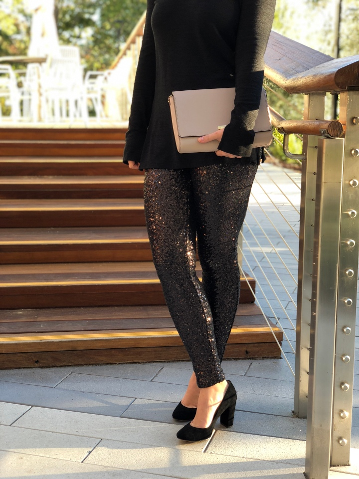 3 Ways to Style Sequin Leggings